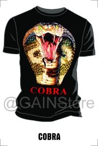 Kaos Sablon gambar cobra bahan cardet soft 24s