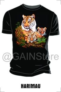 Kaos Sablon gambar harimau bahan cardet soft 24s