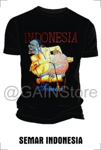 Kaos Sablon gambar semar indonesia bahan cardet soft 24s